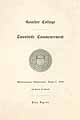 Thumbnail image of Goucher College 1911 Commencement cover