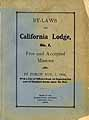 Thumbnail image of California Lodge, F. & A. M. 1906 By-Laws cover