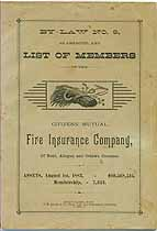 Thumbnail image of Citizens' Mutual Fire Ins. Co. 1883 Members cover