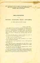 Thumbnail image of National Freedman's Relief Association 1862 Organization cover