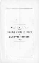 Thumbnail image of Hamilton College 1844-5 Catalogue cover