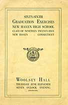 Thumbnail image of New Haven High School 1925 Commencement cover