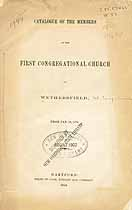 Thumbnail image of Wethersfield First Congregational Church 1853 Catalogue cover