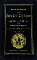 Thumbnail image of North Carolina Grand Royal Arch Chapter 1855 Convocation cover