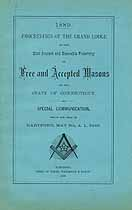Thumbnail image of Connecticut Grand Lodge F. and A. M. 1889 Proceedings cover