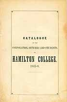 Thumbnail image of Hamilton College 1847-8 Catalogue cover
