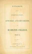 Thumbnail image of Hamilton College 1852-3 Catalogue cover
