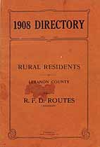 Thumbnail image of Lebanon County 1908 Rural Directory cover