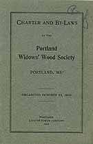 Thumbnail image of Portland Widows' Wood Society 1904 Roster cover