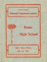 Thumbnail image of Rome High School Annual 1903 Commencement cover