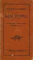 Thumbnail image of Kem Temple 1917 Reports and Roster cover