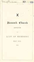 Thumbnail image of Hancock Church 1877 Member List cover