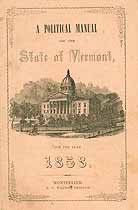 Thumbnail image of Vermont 1858 Political Manual cover