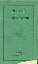 Thumbnail image of Walton Odd Fellowship 1920 Roster cover