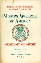 Thumbnail image of M. W. of A. 1910 Academy of Music cover