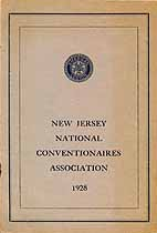 Thumbnail image of NJ National Conventionaires Assoc. 1928 cover