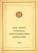 Thumbnail image of NJ National Conventionaires Assoc. 1929 cover