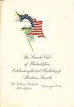 Thumbnail image of Lincoln Club of Philadelphia 1918 Celebration Menu cover