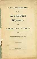 Thumbnail image of New Orleans Dispensary 1906 Report cover