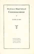 Thumbnail image of Herkimer High School 1929 Commencement cover
