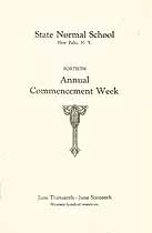 Thumbnail image of New Paltz Normal School 1926 Commencement cover