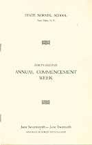 Thumbnail image of New Paltz Normal School 1928 Commencement cover
