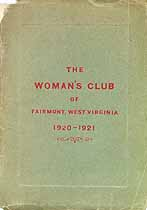 Thumbnail image of Woman's Club of Fairmont 1920-1921 cover