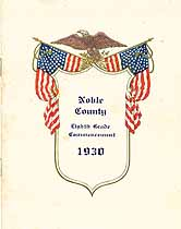 Thumbnail image of Noble County Eighth Grade 1930 Commencement cover