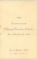 Thumbnail image of Cahuenga Grammar Schools 1909 Commencement cover