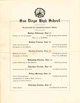 Thumbnail image of San Diego High School 1908 Commencement cover