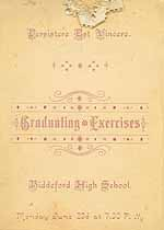 Thumbnail image of Biddeford High School 1890 Graduating Exercises cover