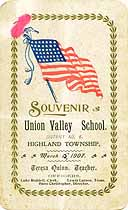Thumbnail image of Union Valley School 1907 Souvenir cover