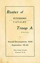 Thumbnail image of Peterboro Cavalry Troop A 1910 Roster cover