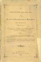 Thumbnail image of Boston Scots' Charitable Society 1657-1877 Roster cover
