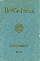 Thumbnail image of The Criterion Commencement 1920 cover