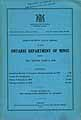 Thumbnail image of Ontario Department of Mines 1929 Report cover