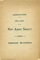 Thumbnail image of NJ Society, Sons of Amer. Revolution 1896 Roster cover