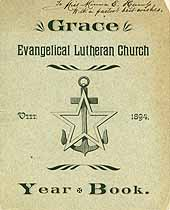 Thumbnail image of Grace Evangelical Lutheran Church 1894 Year Book cover