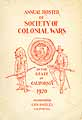 Thumbnail image of California Society of Colonial Wars 1920 Roster cover