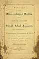 Thumbnail image of Morris County Sabbath School Association 1878 Minutes cover