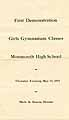 Thumbnail image of Monmouth High School 1915 Gymnasium Demonstration cover