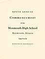 Thumbnail image of Monmouth High School 1918 Commencement cover