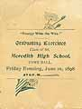 Thumbnail image of Meredith High School 1898 Graduation cover