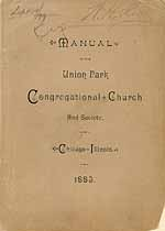 Thumbnail image of Union Park Congregational Church 1883 Manual cover