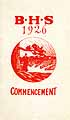 Thumbnail image of Brattleboro High School 1926 Commencement cover