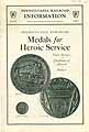 Thumbnail image of Pennsylvania Railroad Medals for Heroic Service cover