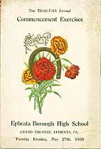 Thumbnail image of Ephrata Borough High 1930 Commencement cover