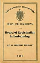 Thumbnail image of List of Registered Mass. Embalmers 1908 cover