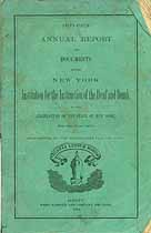 Thumbnail image of New York Deaf and Dumb Institute 1874 Report cover