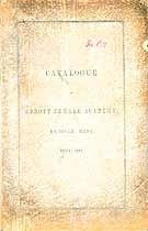 Thumbnail image of Abbott Female Academy 1857 Catalogue cover